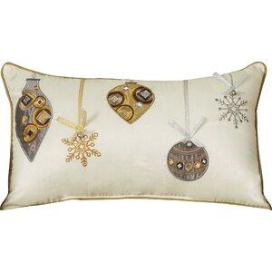 Holiday Ornaments Lumbar Pillow
