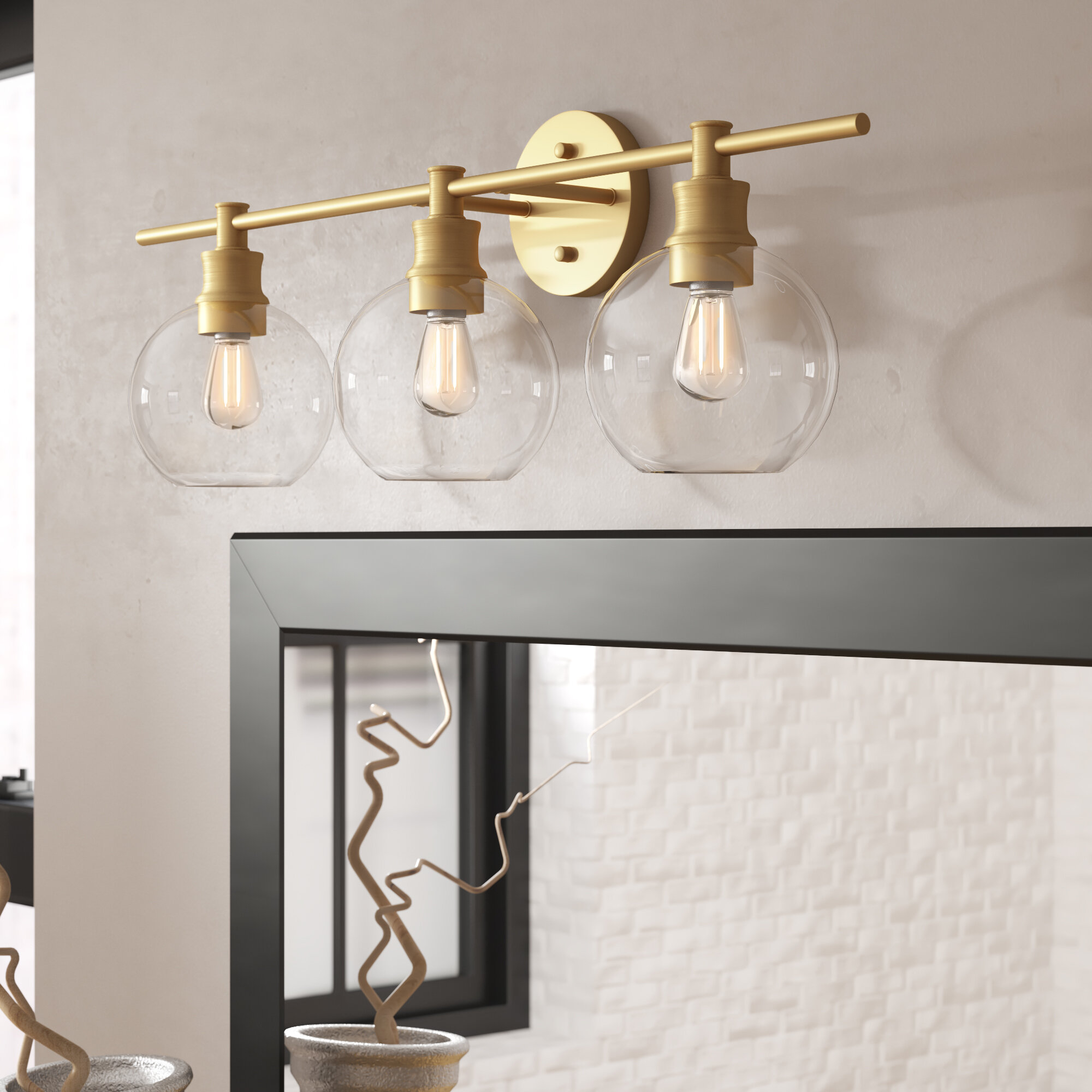 Hashtag Home Drinkard 3 Light Vanity Light Reviews Wayfair