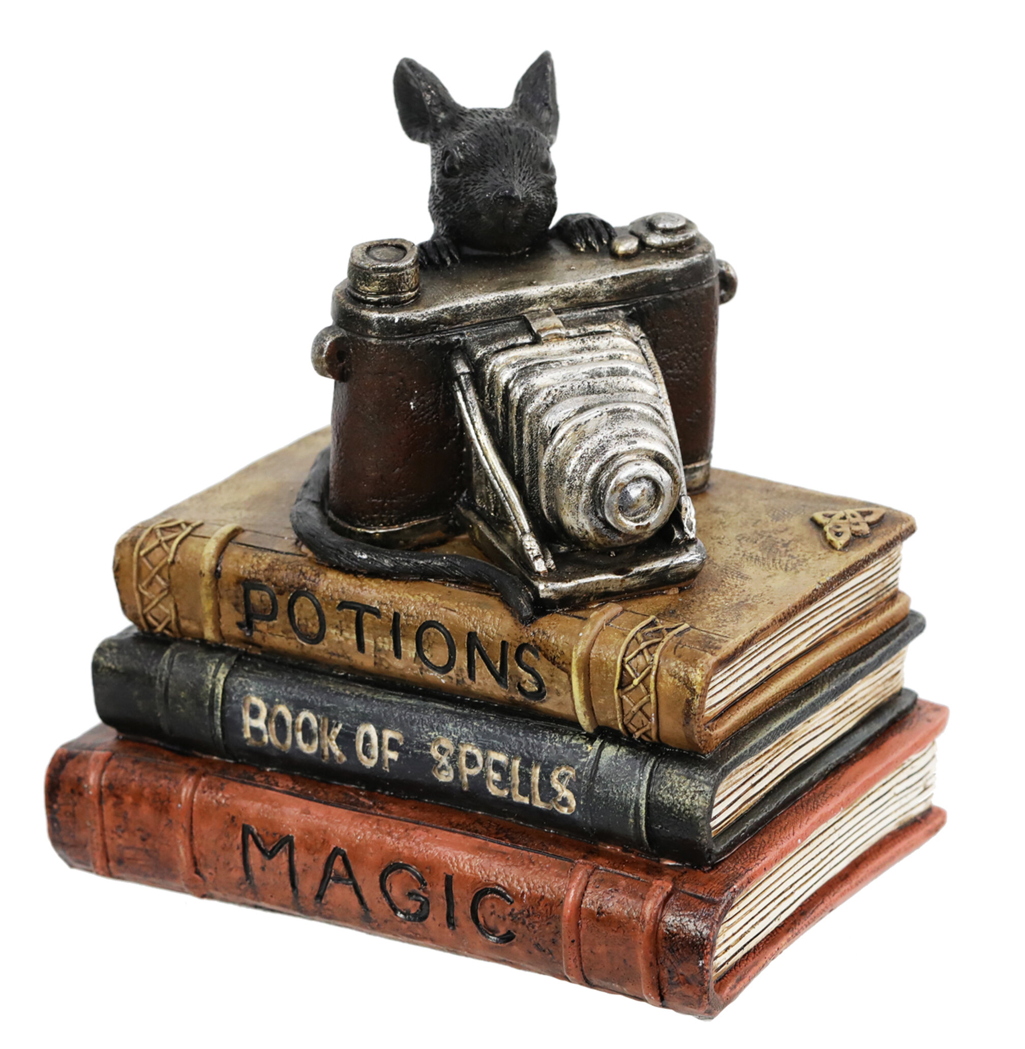 The Holiday Aisle Potion Book With Rat And Camera Tabletop Decor Wayfair