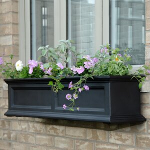 Fairfield Self-Watering Plastic Window Box Planter