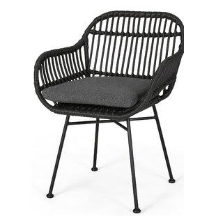 Mccune Indoor Woven Faux Rattan Papasan Chair (Set of 2)