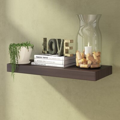 Andover Mills Floating Shelf Size: 24 W, Finish: Grey