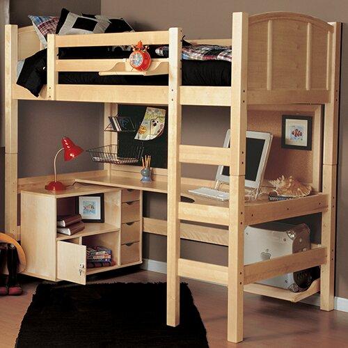 Zoomie Kids Sandisfield Twin Loft Bed With Media Cart U0026 Reviews   Wayfair
