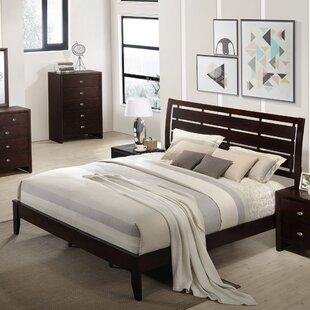 Roundhill Furniture Gloria Wood Panel Bed