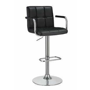 Wootton Grid Adjustable Height Swivel Bar Stool