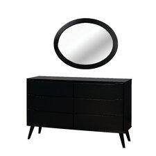 Hemenway 6 Drawer Dresser with Mirror