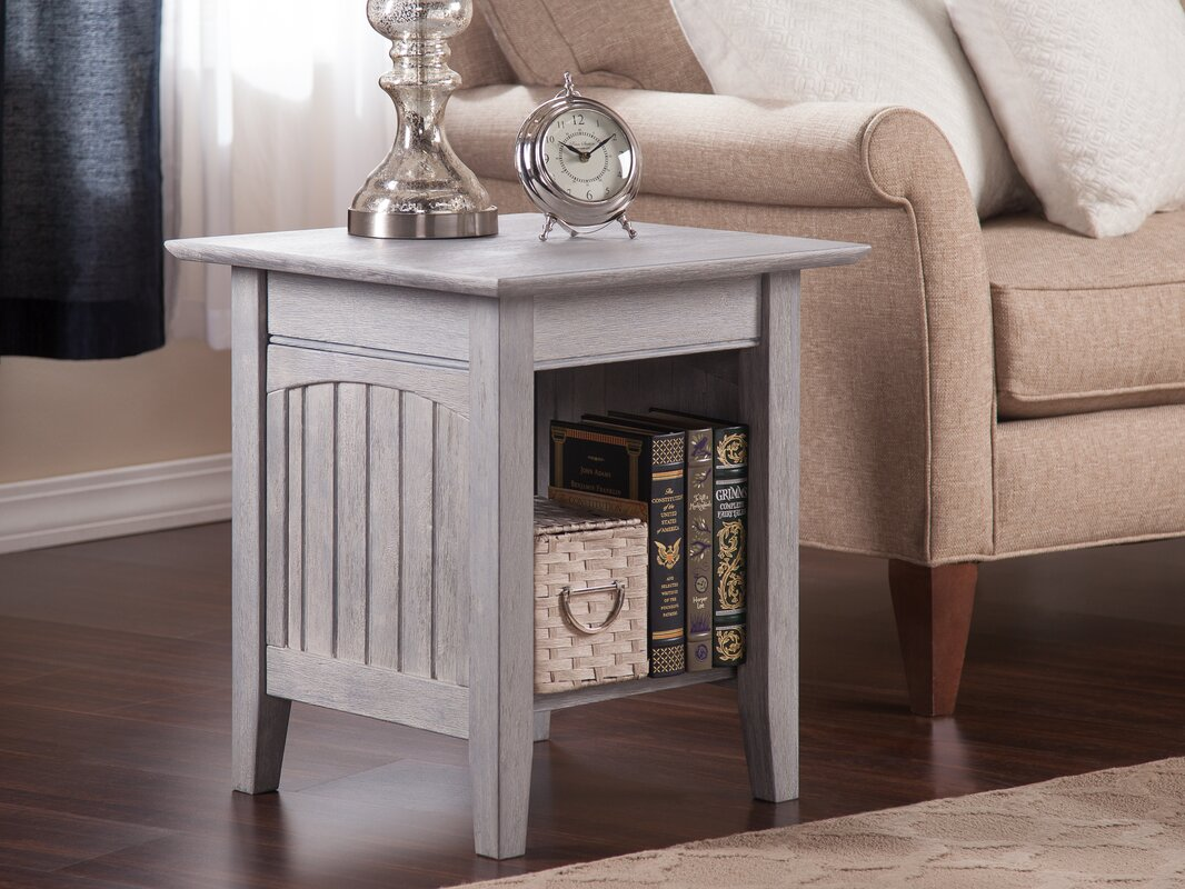 Highland Dunes Glenni Solid Wood End Table with Storage Reviews