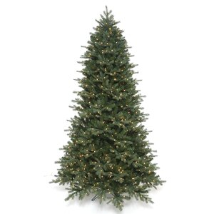 7.5' Green Fir Artificial Christmas Tree with 700 Clear White Lights