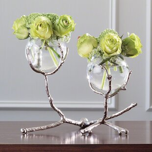 2 Vessel Glass Medium Table Vase
