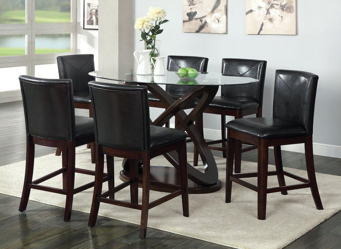 Ollivander 7 Piece Counter Height Dining Set