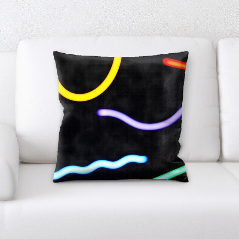 Ebern Designs Brenner Sharp Colors Throw Pillow Wayfair