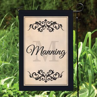 Personalized Filigree Polyester 1.5' X 1' Garden Flag By CPS