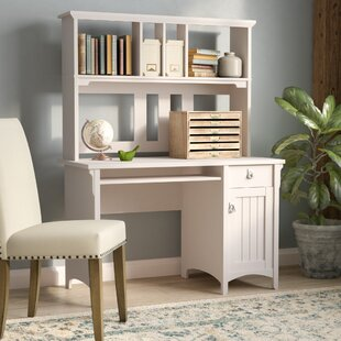 Ottman Solid Wood Computer Desk with Hutch by Lark Manor