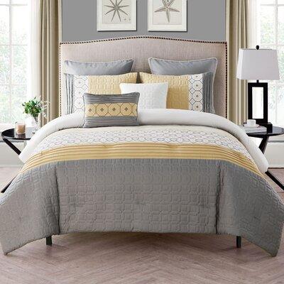 Meza 7 Piece Comforter Set Size: King