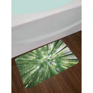 Tropical Bamboo Bath Rug