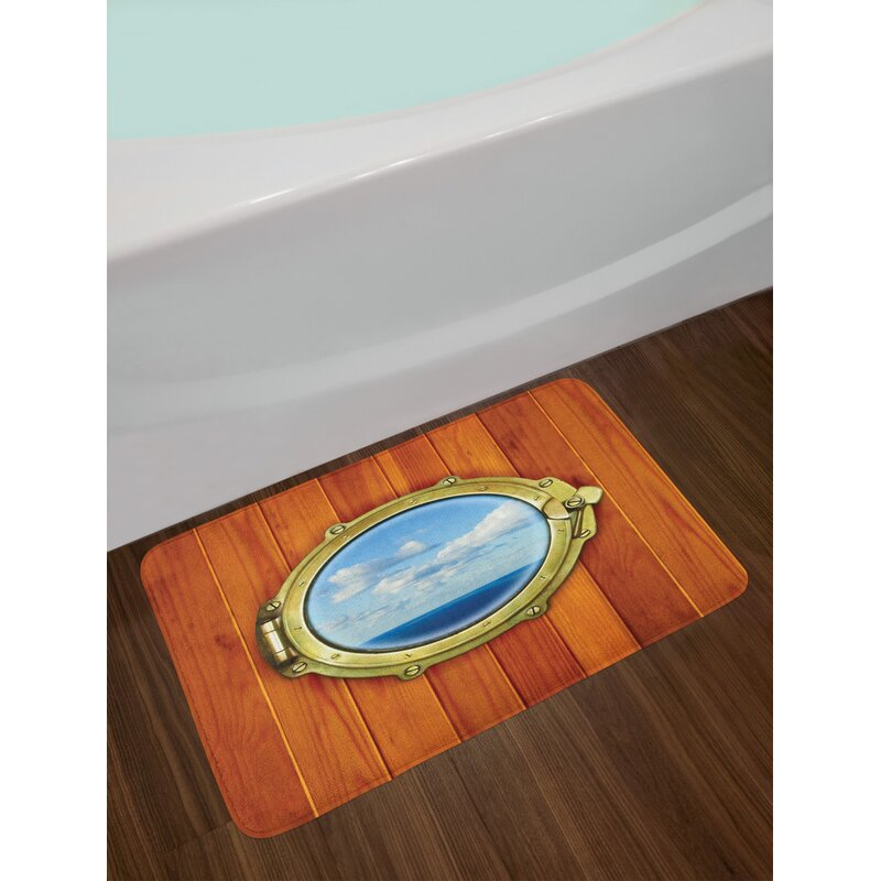 Ambesonne Bath Mat with Non Slip Backing Pirinted Plush Bathroom Decor