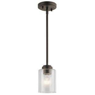 Latitude Run Honea 1-Light Cylinder Pendant