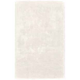 Best Review Millie Hand-Tufted White Area Rug By Ebern Designs