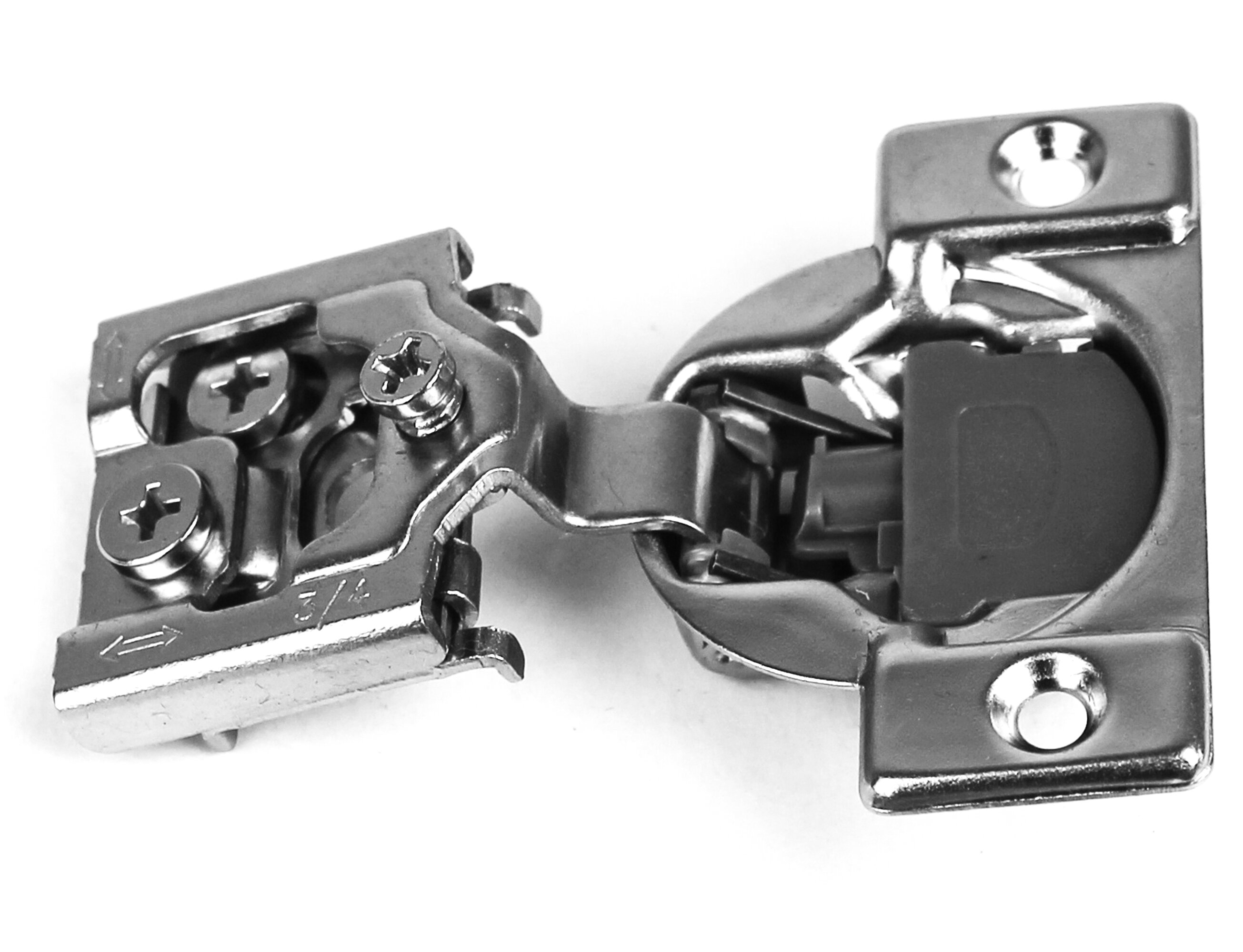 """1 1//4/"""" Overlay Soft Close  Face Frame  Compact Cabinet Hinge 6 Way Adjustment"""