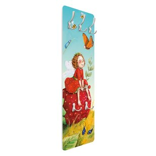 The Strawberry Fairy - Magic Wall Mounted Coat Rack By Symple Stuff
