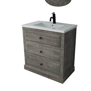 single sink bathroom vanity. Save  Bellevue 30 Single Sink Bathroom Vanity Set Farmhouse Rustic Vanities Birch Lane