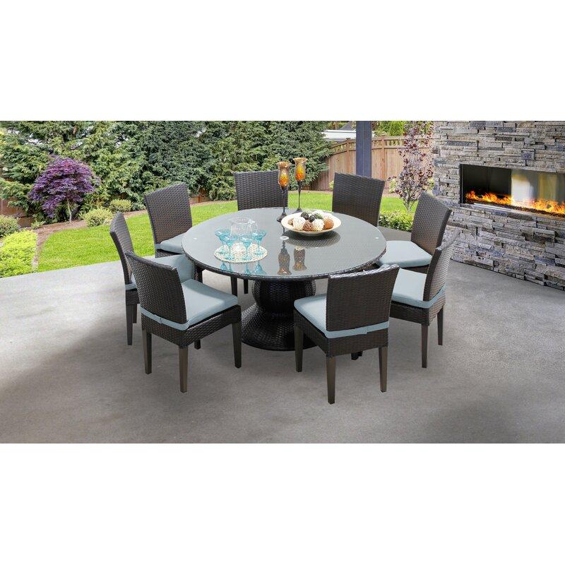 Sol 72 Outdoor Tegan 9 Piece Dining Set With Cushions Wayfair