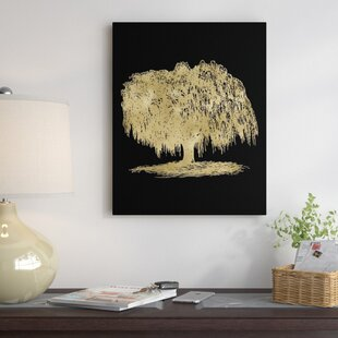 Lighted weeping willow tree wayfair weeping willow tree graphic art on wrapped canvas aloadofball Gallery