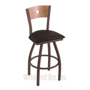Lareau 30 Swivel Bar Stool Red Barrel Studio