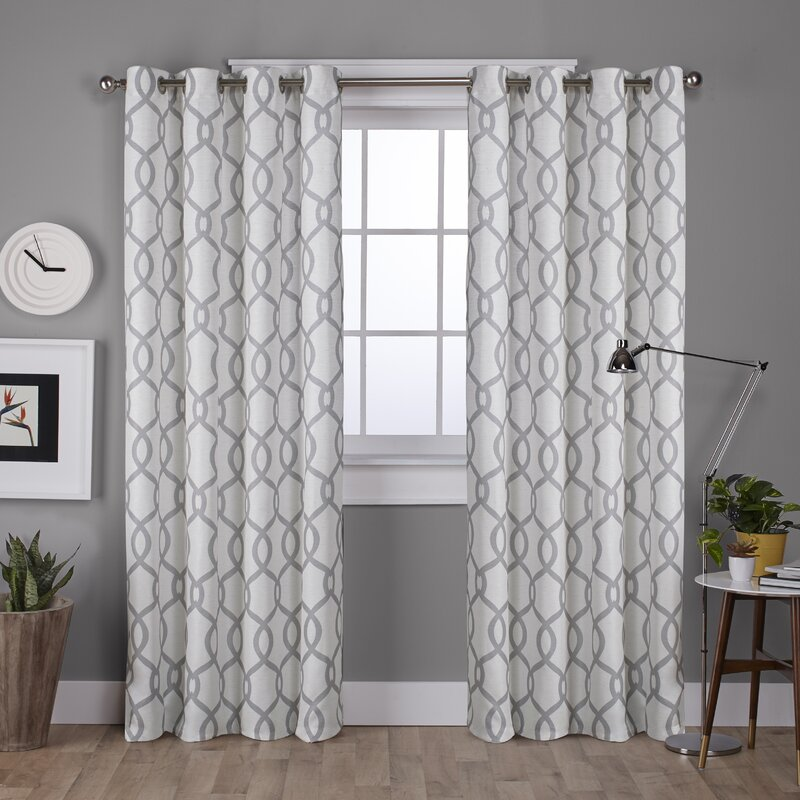 Plant City Geometric Room Darkening Grommet Curtain Panels