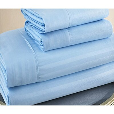 Ruthy's Textile 300 Thread Count Striped 100% Cotton Sheet Set