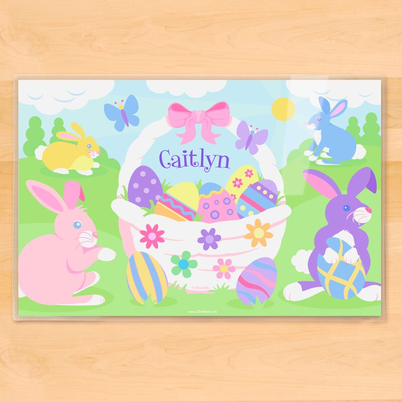 olive kids easter basket girls personalized placemat reviews wayfair