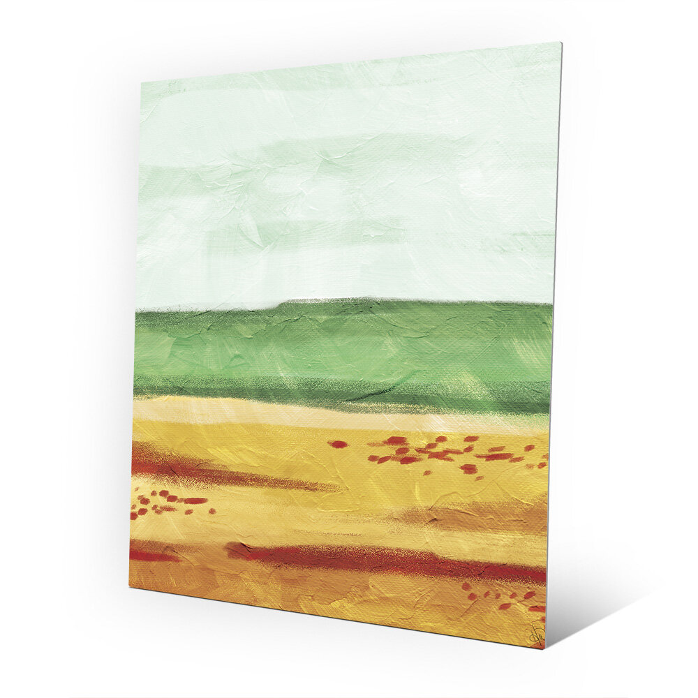 Click Wall Art The Sand Painting Print On Plaque Wayfair