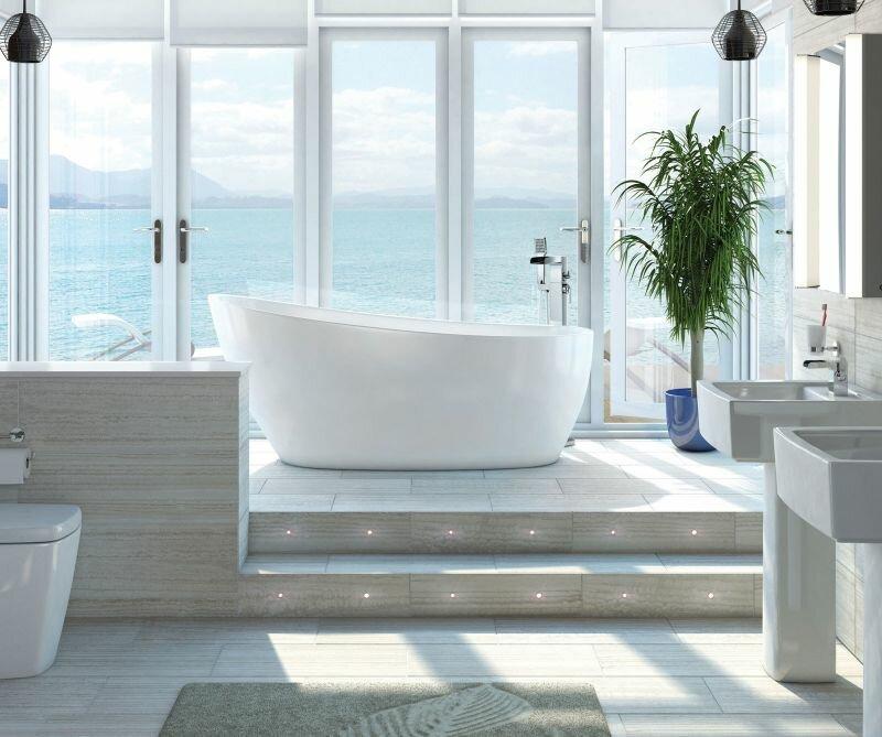 Belfry Bathroom 1720 mm x 740 mm Freestanding Slipper Bathtub ...