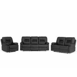 Mount Barker 3 Piece Reclining Living Room Set (Set of 3) by Red Barrel Studio
