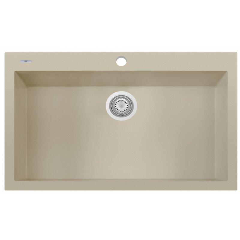Granite Composite 33 L X 22 W Single Bowl Drop In Kitchen Sink