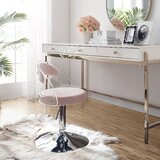 Hylan Swivel Adjustable Height Short Stool by Everly Quinn