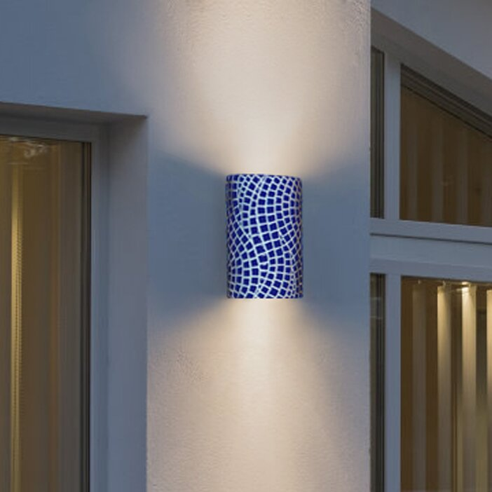 A19 Mosaic Channels 1-Light Wall Sconce