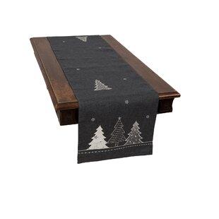 Barnabas Lovely Christmas Tree Embroidered Table Runner