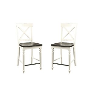 Mulford Solid Wood Barstool (Set of 2)