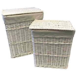 2 Piece Wicker Laundry Basket Set By House Of Hampton