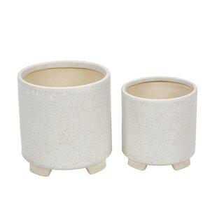 Losoya 2-Piece Ceramic Pot Planter Set by Bungalow Rose