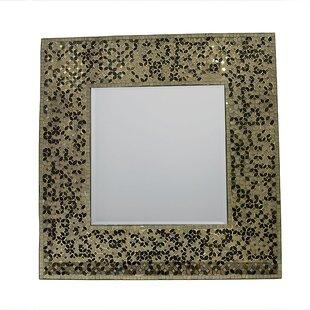 Bloomsbury Market Acquah Mosaic Square Accent Mirror
