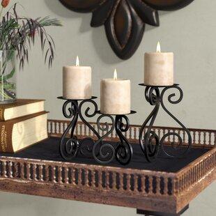 3 Piece Iron Candlestick Set