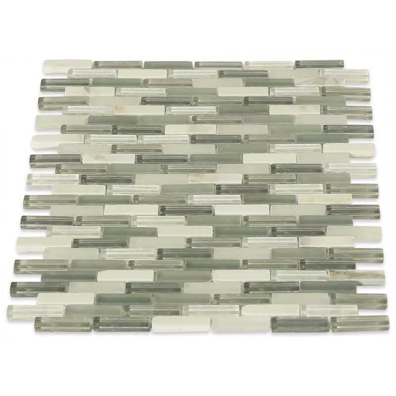 Cleveland 0 5 X 1 Gl Marble Mosaic Tile In Frosted