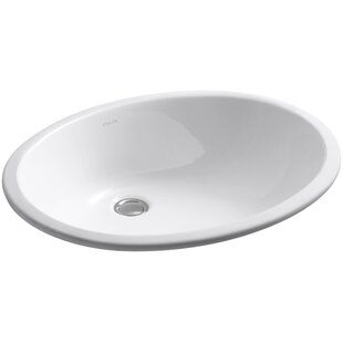 Compare prices Caxton Ceramic Oval Undermount Bathroom Sink By Kohler