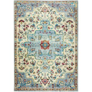 Moller Merida Ivory/Gray Area Rug by Bloomsbury Market