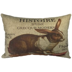 Lebel French Hare Linen Lumbar Pillow