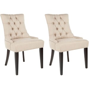 Reynesford Velvet Side Chair (Set of 2) by Charlton Home