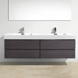 Tenafly 72 Wall Mount Double Bathroom Vanity Set By Wade Logan