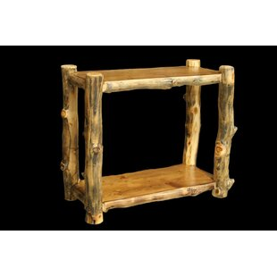 Millwood Pines Amias Console Table with Recessed Top and Shelf